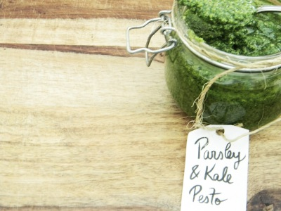 Parsley and Kale Pesto